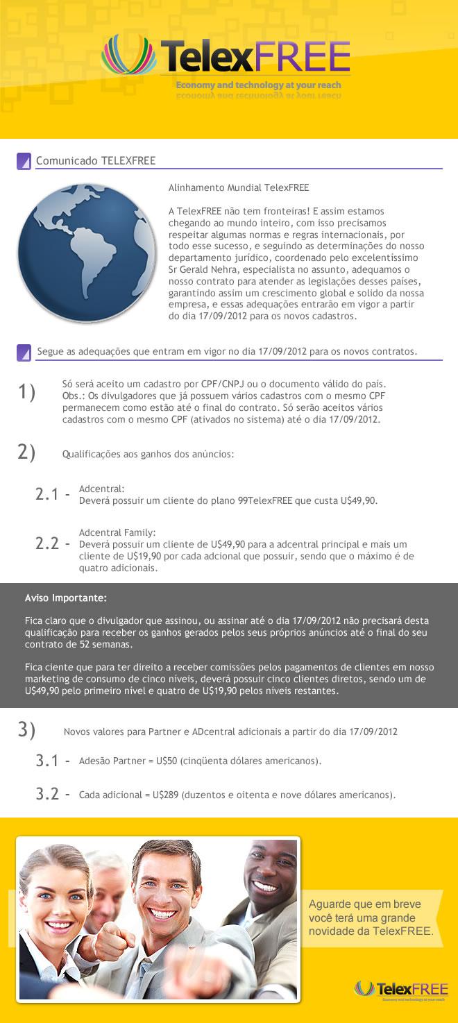 Alterações à partir do dia 17 de Setembro de 2012.